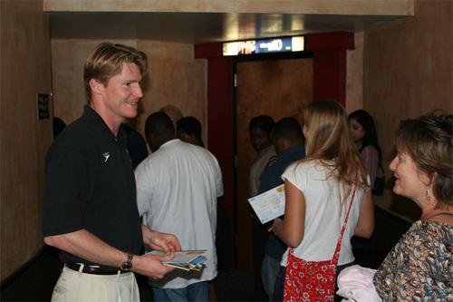 """Josh Meets w/ """"Pride"""" Screening Attendees"""